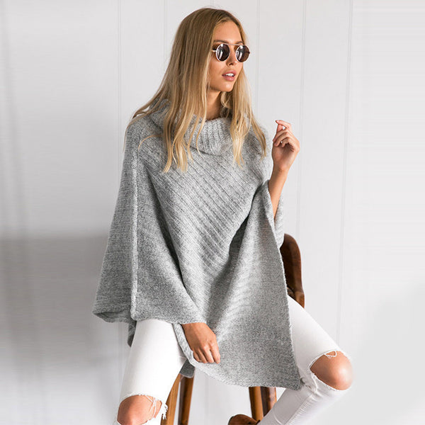 ea8ad56b9c Turtleneck Loose Knitted Sweater Pullover