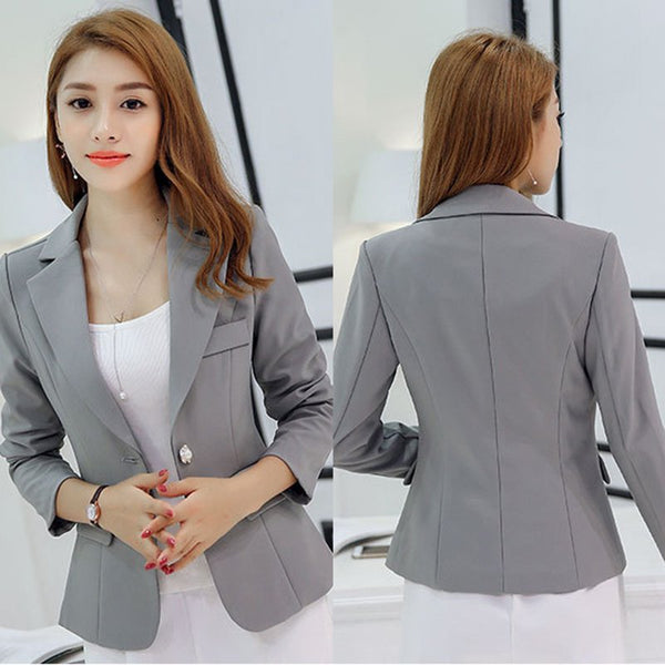 Mamir's Express - Elegant One Button Blazer Jacket