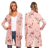 Mamir's Express - Long Sleeve Floral Print Kimono Tops Blouse