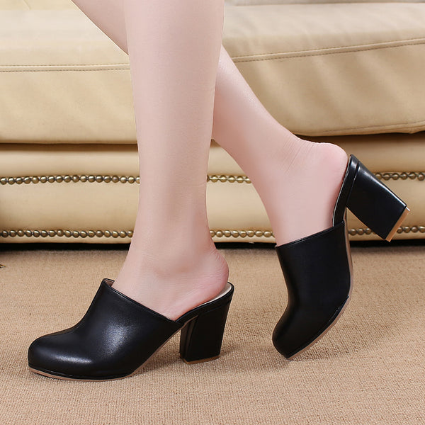 dfc23ae182a9c6 Black Ladies Close Toe High Heel Slippers. Sale price  61.99 Regular price   121.98 Sale. Mamir s Express - Buckle Open Toe Wedge Sandals ...