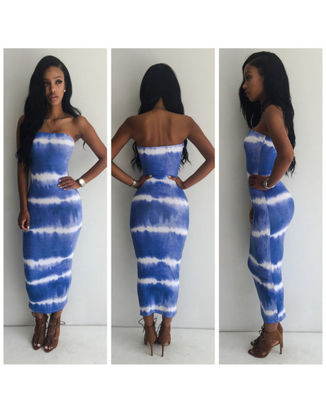 Mamir's Express - Bodycon Tube Long Dress Empire Gown
