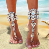Mamir's Express - Bohemia Beach Anklet Full Rhinestone Foot Jewelry Chain
