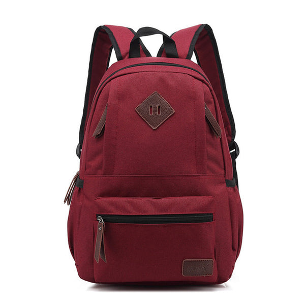 Canvas School Backpacks Printing Travel Bag