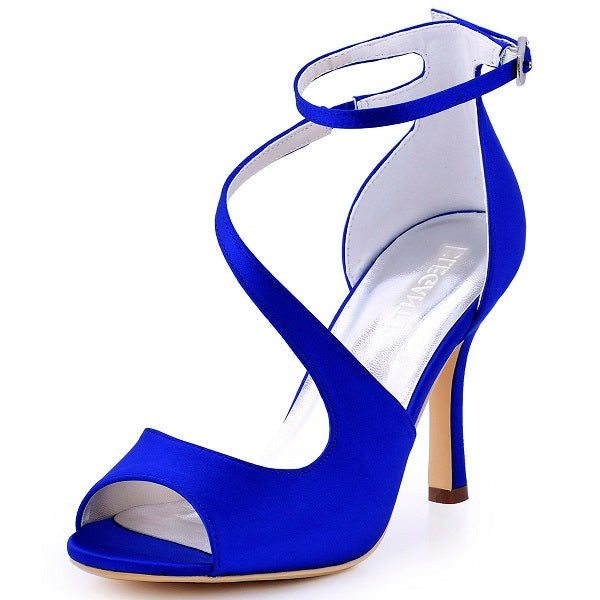 Woman High Heel Ankle Strap Sandals Peep Toe Shoes