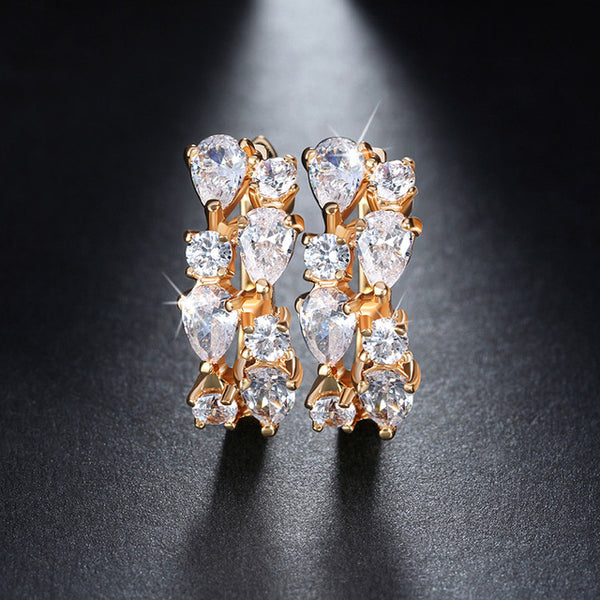 Mamir's Express - Charming Clear Cubic Zirconia Stud Earrings