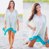 Mamir's Express - Ladies Chiffon Wrap Beach Dress Sarong B Cover-Ups