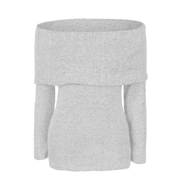 Women s Sexy Off Shoulder Casual Long Sleeve Jumper Sweater winter tops b6af6ac75