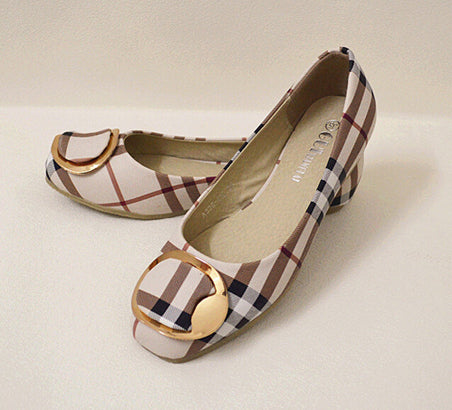 Mamir's Express - Flats Shoes Ladies Bow Square Toe Slip-On Flat