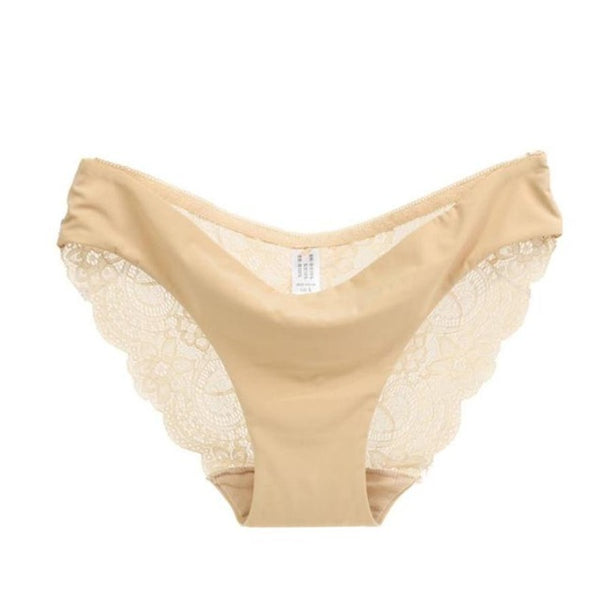 Mamir's Express - Comfortable Lace Seamless Cotton Hollow briefs Panties