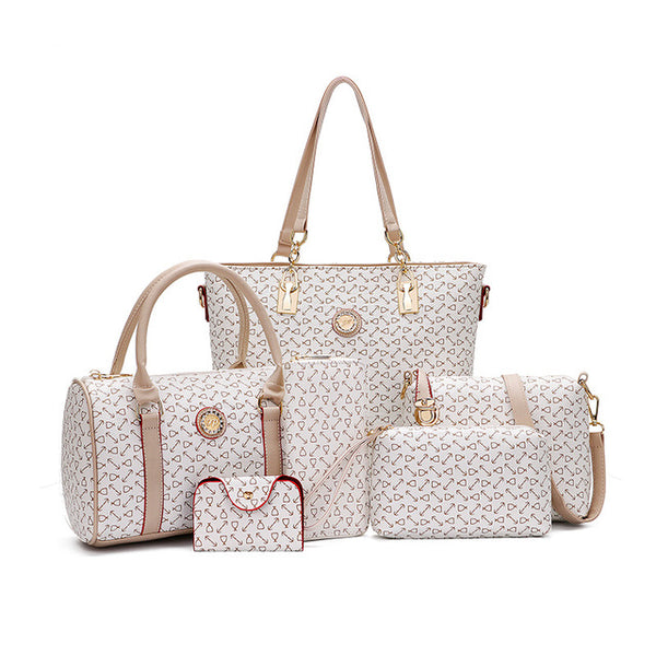 Six Pieces Diaper Bags Set Tote Cute Nursing Bags For Mother's