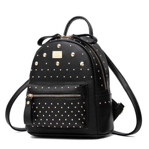 ... Mamir s Express - MINI PU Leather Backpack Rivet Design ... f78796578edc6