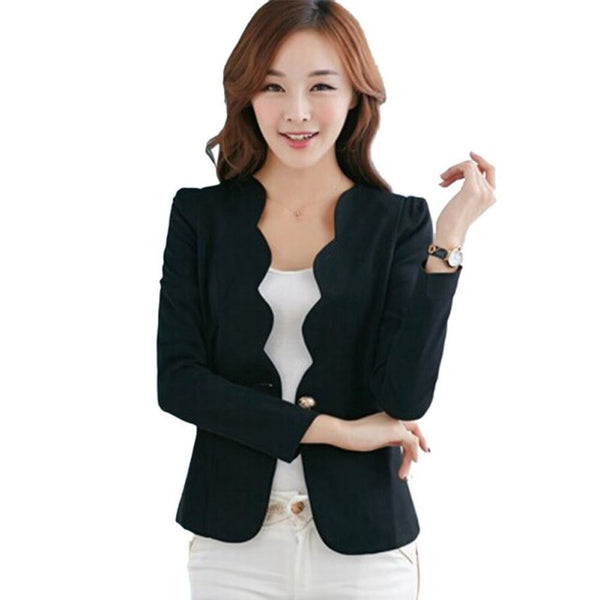 Slim Fit Blazer Jackets Long Sleeves