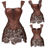 Steampunk Gothic Corset Lace Up Bustier Over-bust  Lingerie