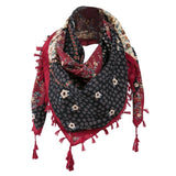 Mamir's Express - Ladies Floral Prints Tassel Shawl Scarf