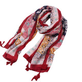 Mamir's Express - Long Flower Beach Wrap Shawl  Scarves
