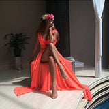 Mamir's Express - One Size Beach Cover up Chiffon Robe