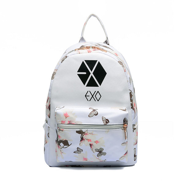 Mamir's Express - Butterfly Flower Backpacks For Teenager EXO Bigbang GD MADE TOP BTS Backpacks For Girl School Bag