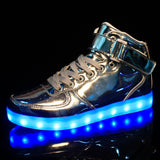 Mamir's Express - Lights up led luminous sneakers with charge