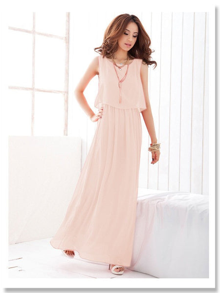 60e03aae46 Boho Chiffon Long Maxi Dress