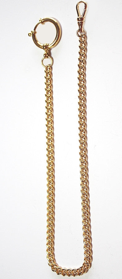 14K Gold Filled Quality Watch Chain w/Large Spring Ring - New Stock - Made in USA