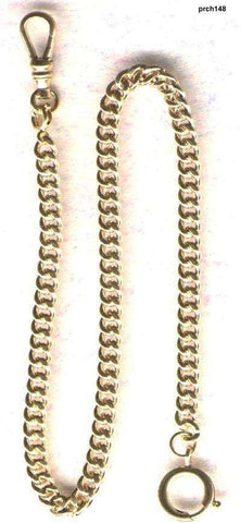 Gold Filled Watch Chain--Made in USA Quality 14KGF with Small Spring Ring-New Stock