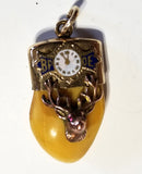 Antique Gold Filled Elk Tooth Pocket Watch Fob