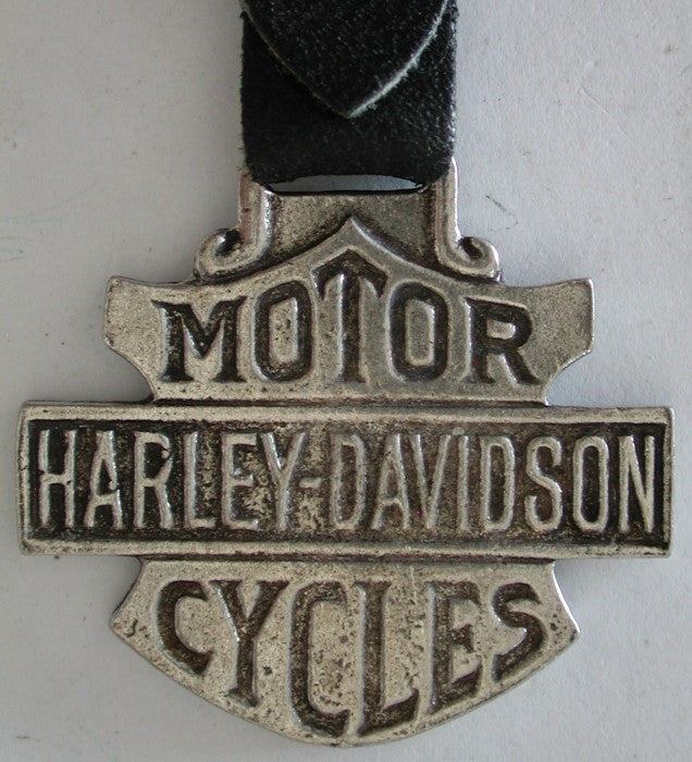 Harley Davidson Motor Cycles Pocket Watch Fob w/ Leather Strap