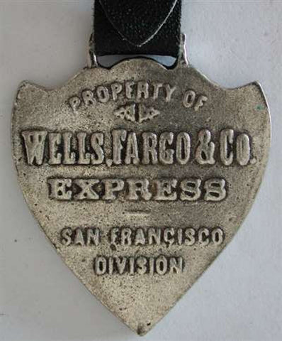 Wells Fargo & Co Express Pocket Watch Fob - Vintage Looking Reproduction