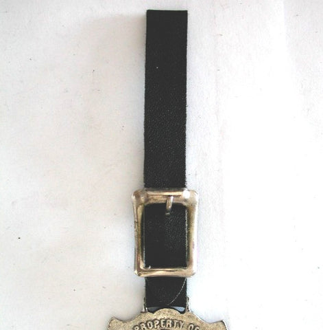 New Black Leather Fob Strap