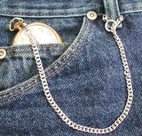Example of small spring ring chain attached to belt loop