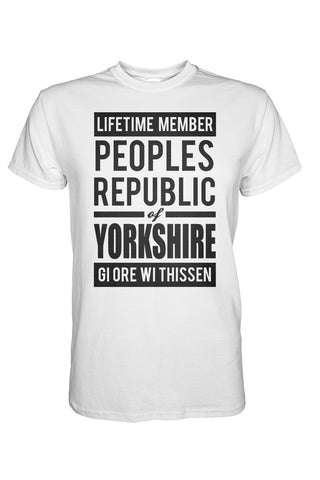 Republic of Yorkshire white Yorkshire t shirt