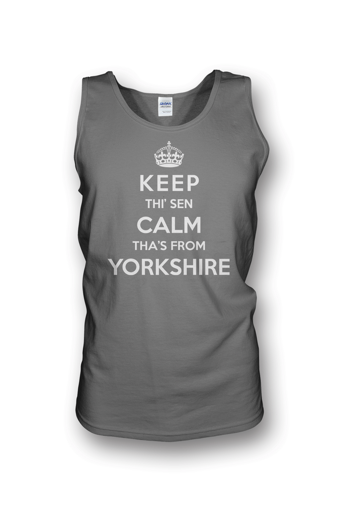 Keep Calm grey Yorkshire Vest