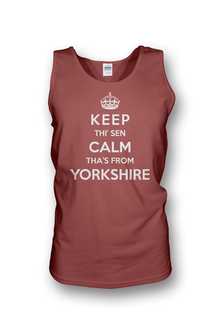 Keep Calm red Yorkshire Vest