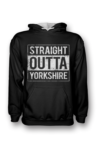 'Straight Outta Yorkshire Areas' hoodie