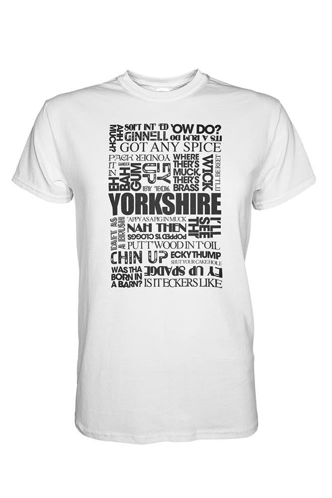 Yorkshire Sayings white Yorkshire t shirt