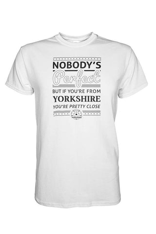 Nobody's Perfect white Yorkshire t shirt