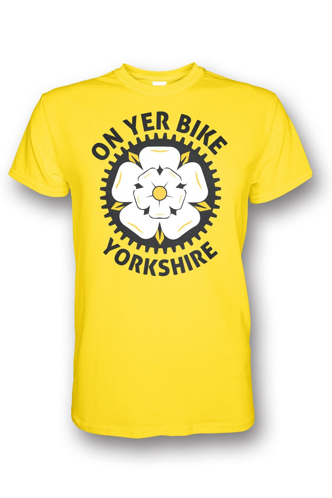 On Yer Bike Yorkshire yellow Yorkshire T-Shirt