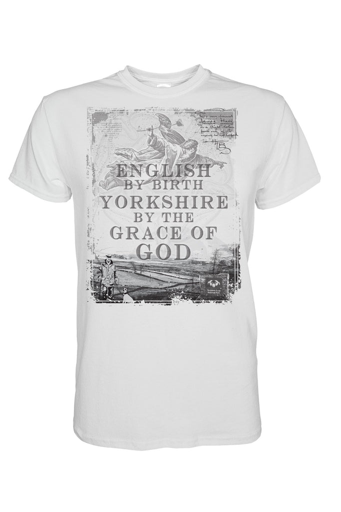 Yorkshire by the Grace of God white Yorkshire t shirt