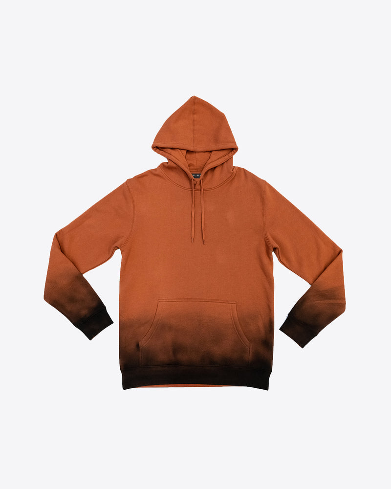 BURNT ORANGE AIR BRUSH HOODIE