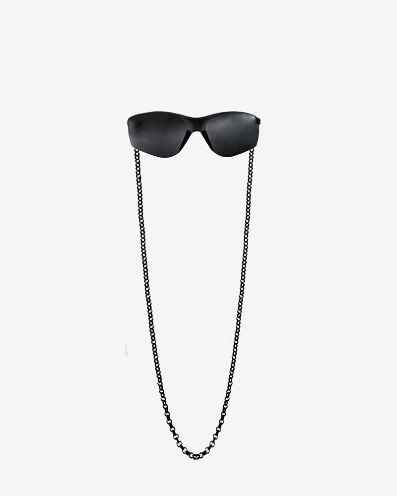 BLACK SAFETY GLASSES WITH CHAIN
