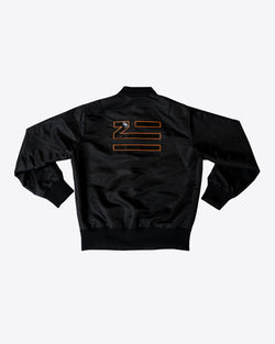 BOMBER JACKET WITH PLASTIC APPLIQUE