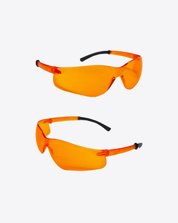 ORANGE SAFETY GLASSES WITH CHAIN