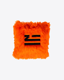 ORANGE FAUX FUR PILLOW