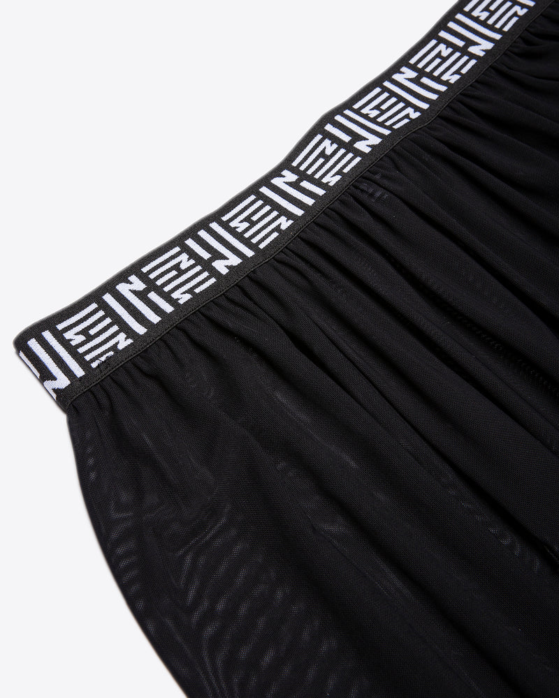 MESH SKIRT WITH TAPING