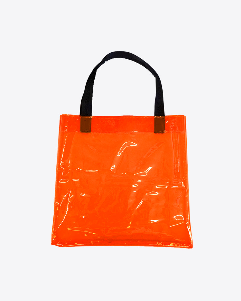 ORANGE PLASTIC TOTE