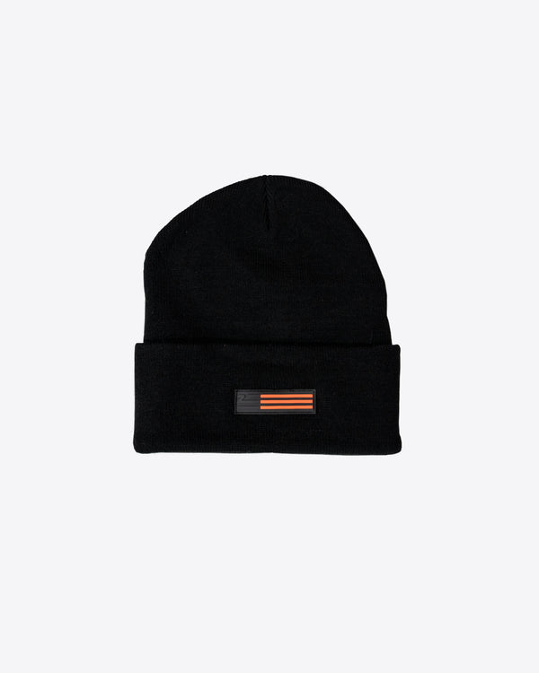 BLACK BEANIE WITH PVZ LABEL