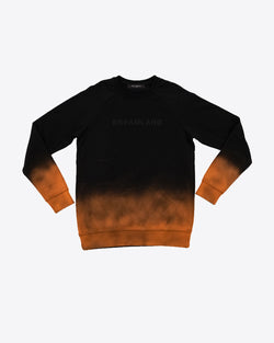 BLACK AIR BRUSH CREWNECK SWEATER