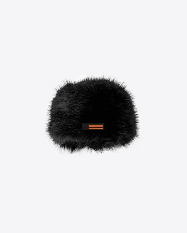 FUR HAT WITH PVZ LABEL