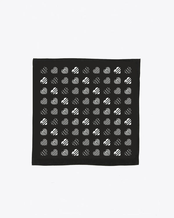 BLACK HEART BANDANA
