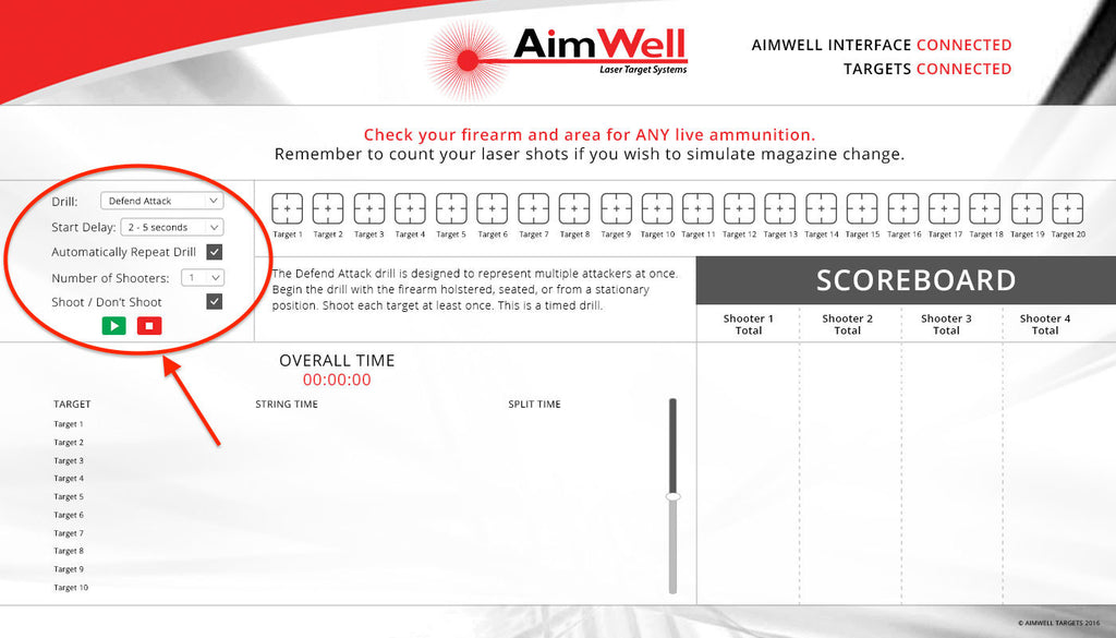 All AimWell Packages Include Interactive Software for up to 4 Users and 20 Targets